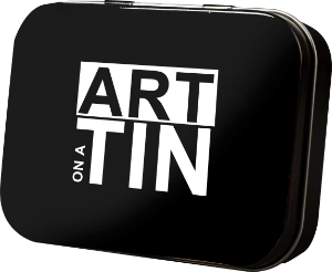 Art on a tin logo